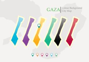 Mappa del vettore striscia di Gaza