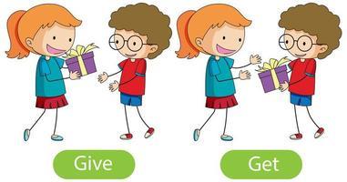 parole opposte con dare e ottenere vettore