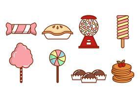 vettori dolci e piatti