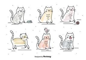 vettore di gatto divertente