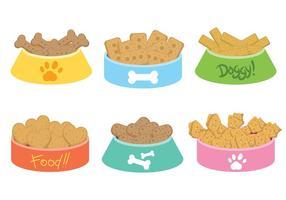Icone di vettore del biscotto per cani