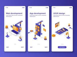 kit di progettazione gui isometrica di sviluppo web