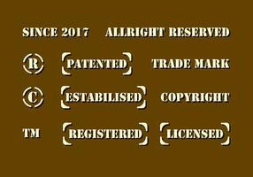 stencil copyright vettoriale
