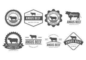 Collezione Angus Badges Vector gratuito