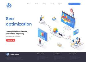 ottimizzazione seo progettazione isometrica della pagina di destinazione