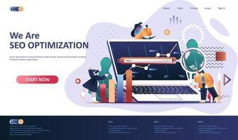 modello di pagina di destinazione piatta per l'ottimizzazione seo