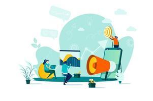 concetto di marketing digitale in stile piatto