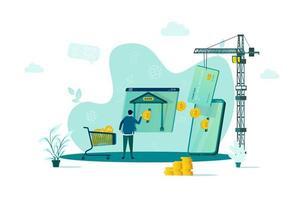 concetto di mobile banking in stile piatto