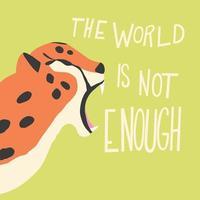 ghepardo gatto grande ruggente su sfondo verde menta
