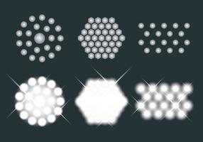 Icone di vettore di luci a LED