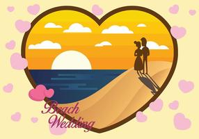 Fondo di vettore di nozze di spiaggia