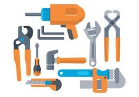 Set di icone strumenti hardware gratuito vettore