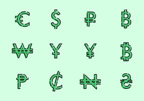 Simboli di valuta del mondo vettore