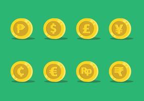 Vettore di valuta del mondo