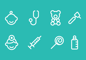 Pediatra Icon Vector