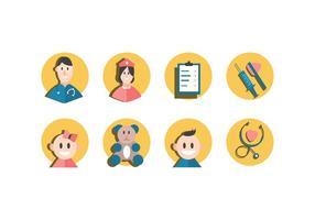 Icone vettoriali gratis pediatra