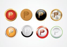 Vettore di simbolo del peso di valuta