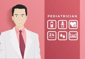 Pediatra With Icon Free Vector