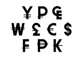 Vettore gratuito dell'icona di simbolo di valuta