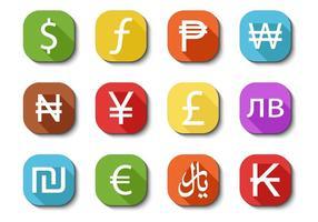 Vettore libero delle icone di valuta