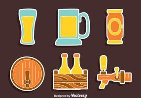 Vettore della raccolta dell'elemento della birra piacevole