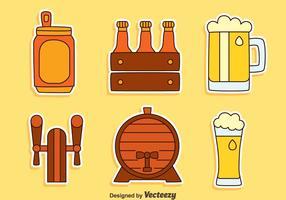 Vettore della raccolta dell'elemento della birra
