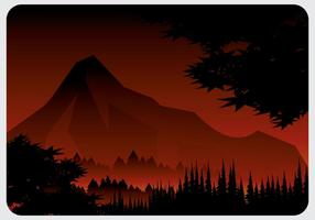 Vettore di foresta in fiamme
