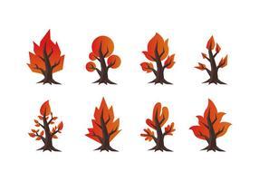 Collezione di vettore gratuito Burning Bush