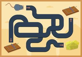 Mouse Trap Maze Game Vector