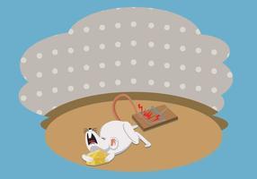 Illustrazione di trappola per topi gratis vettore
