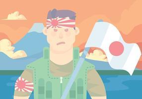 vettore di guerriero kamikaze