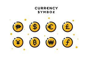 Vettore libero di simbolo di valuta