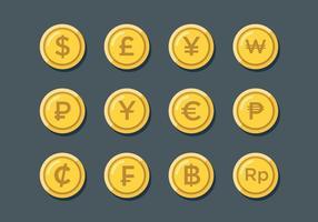 Segni di valuta mondiale vettore