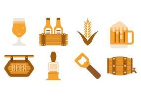 Birra gratis icone vettoriali