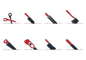 Icona di taglio con linee