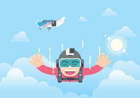 Illustrazione di paracadutismo gratis vettore