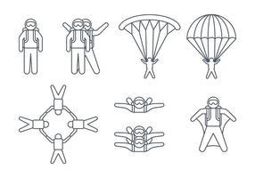 icone paracadutista vettore