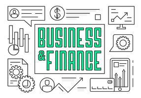 Affari e finanza elementi vettoriali gratis