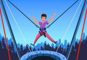 bungee trampoline vettore