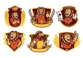 vettore della mascotte del leone 01