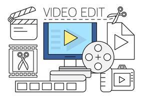 Icone di modifica video gratuite vettore