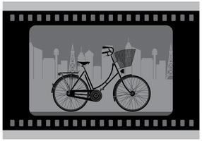 Silent Bicycle Film Vector gratuito