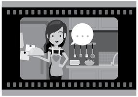 vettore dell'attrice del cinema muto gratis