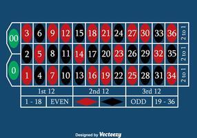 Vettore blu della tabella delle roulette