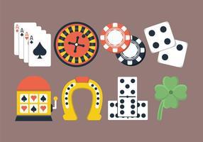 Set di icone di gioco d'azzardo