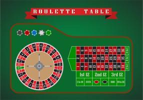 Vettore piano tavolo della roulette