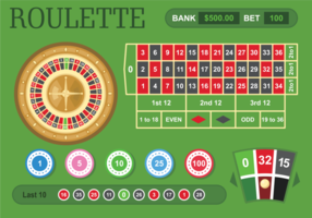 Illustrazione di vettore del tavolo della roulette