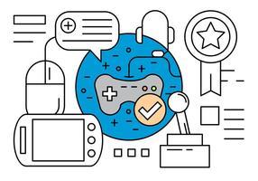 Icone di vettore di gioco lineare