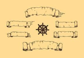 Vettore libero dell'insegna classica disegnata a mano