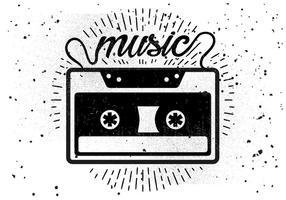 Illustrazione di vettore di cassetta audio vintage
